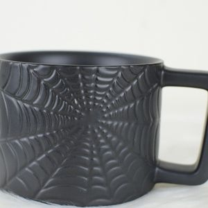 Brand New Starbucks Halloween Black Cobweb Mug